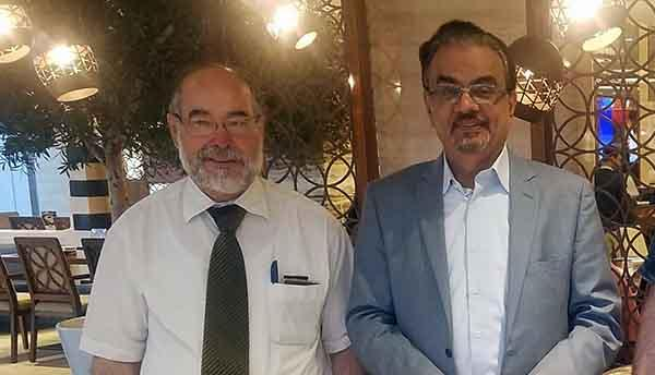 Prof.Dr. Ehtuish Meets with Prof.Dr. Ibrahim Galadari in Dubai