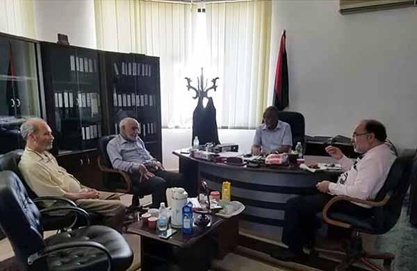 Professor Doctor Ehtuish farag Ehtuish president of the Yes Libya National Movement meets with the chairman of the Libyan Commission of Facts and Reconciliation